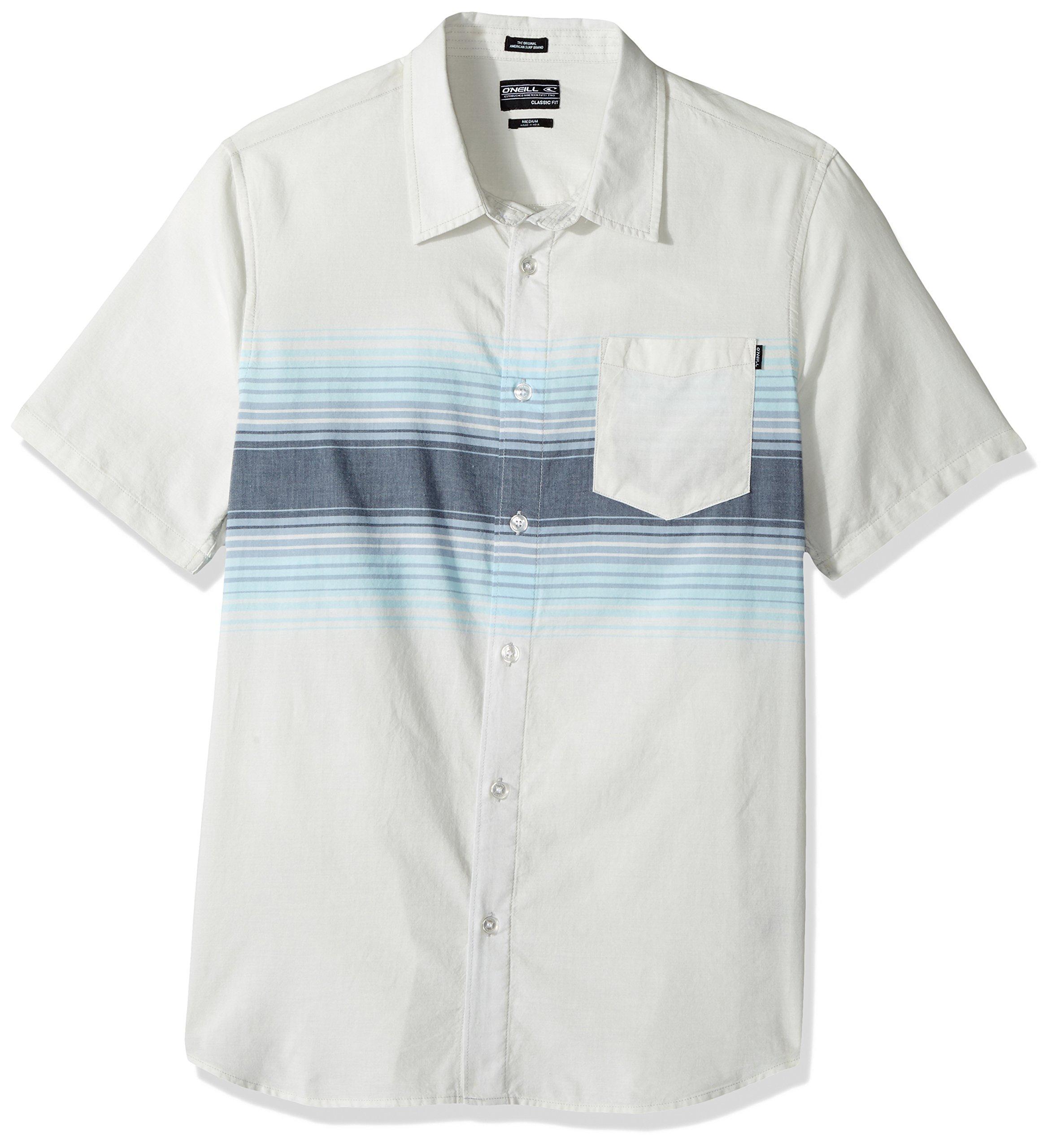 O'Neill Men's Rodgers Short Sleeve, Light Blue, Medium