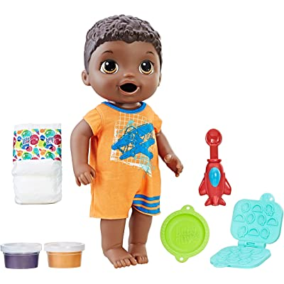 Baby Alive Super Snacks Snackin' Luke (Black Hair): Hasbro: Toys & Games