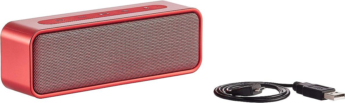 Amazon Basics Bluetooth Stereo Lautsprecher Mit Wasserabweisendem Design 9 W Rot Audio Hifi