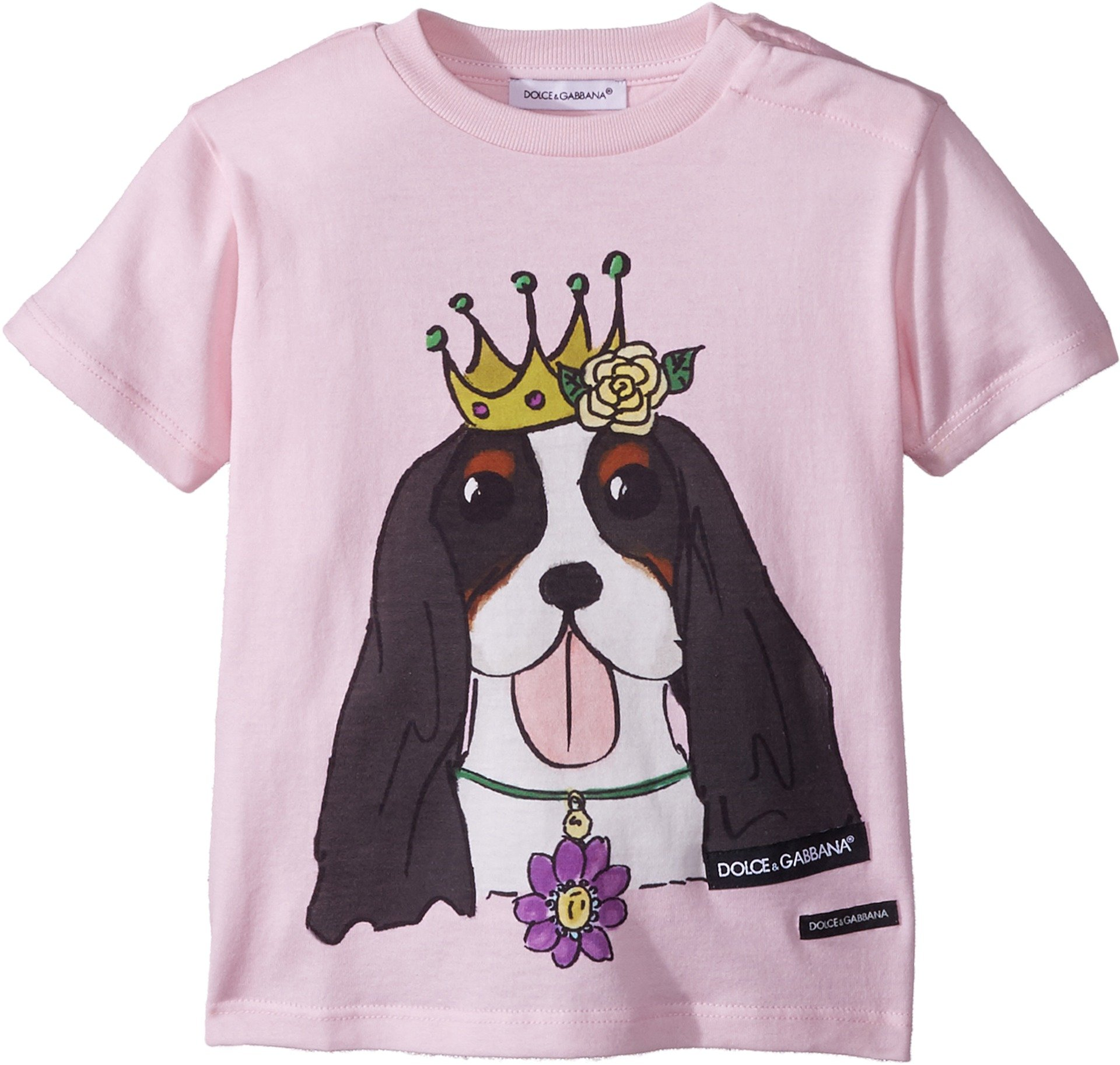 Dolce & Gabbana Kids Baby Girl's T-Shirt (Infant) Pink Print 12-18 Months by Dolce & Gabbana (Image #1)
