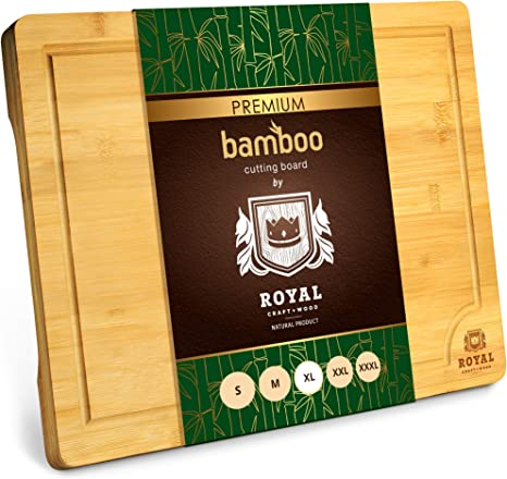 Kitchen Chopping Bo Extra Large Organic Bamboo Cutting Board with Juice Groove