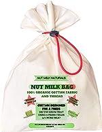 NUT MILK NATURALS NUT MILK BAG. 100% organic cotton fabric and