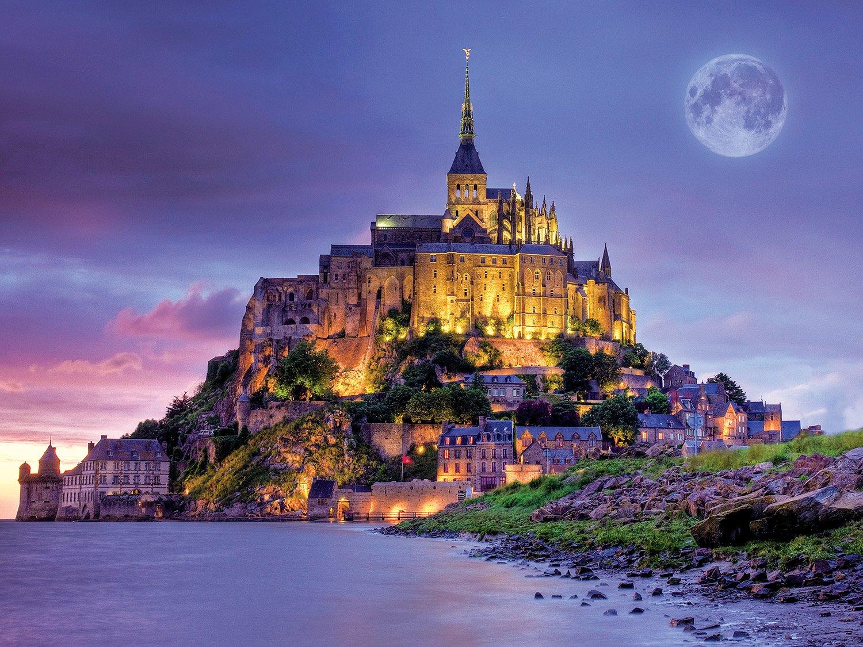 Buffalo Games Majestic Castles - Mont Saint Michel France - 750 Piece Jigsaw Puzzle