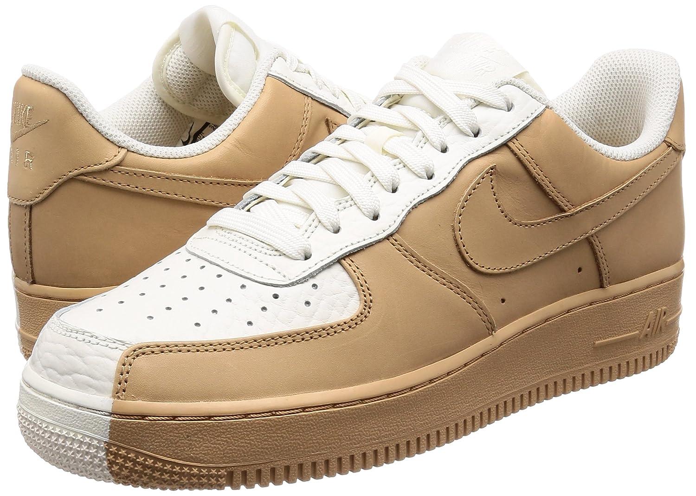 e085a405461a NIKE Men s Air Force 1 07  Premium Shoe Split White Tan  Amazon.co.uk  Shoes    Bags