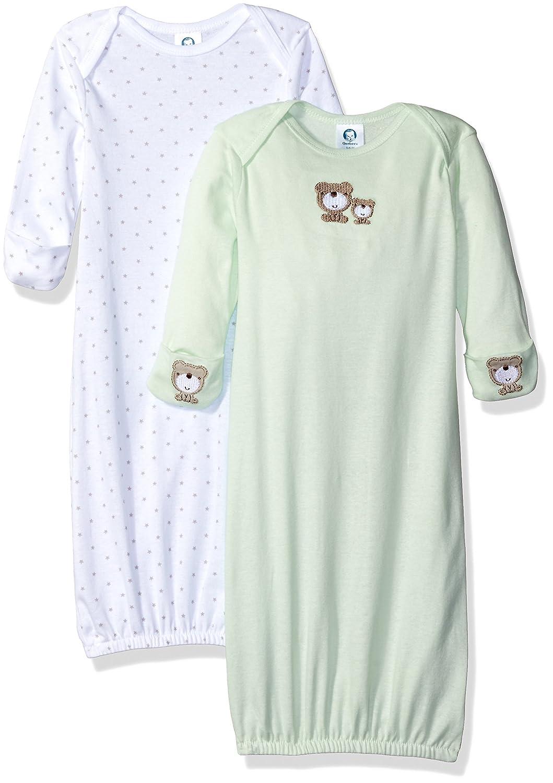 Gerber Baby 2 Pack Gown Teddy 0-6 Months Gerber Children' s Apparel 93018216AN1706I