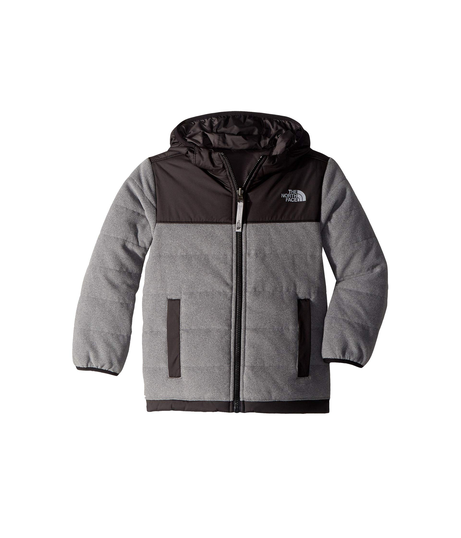 The North Face Boy's Reversible True False Jacket - TNF Medium Grey Heather & Graphite Grey - XL