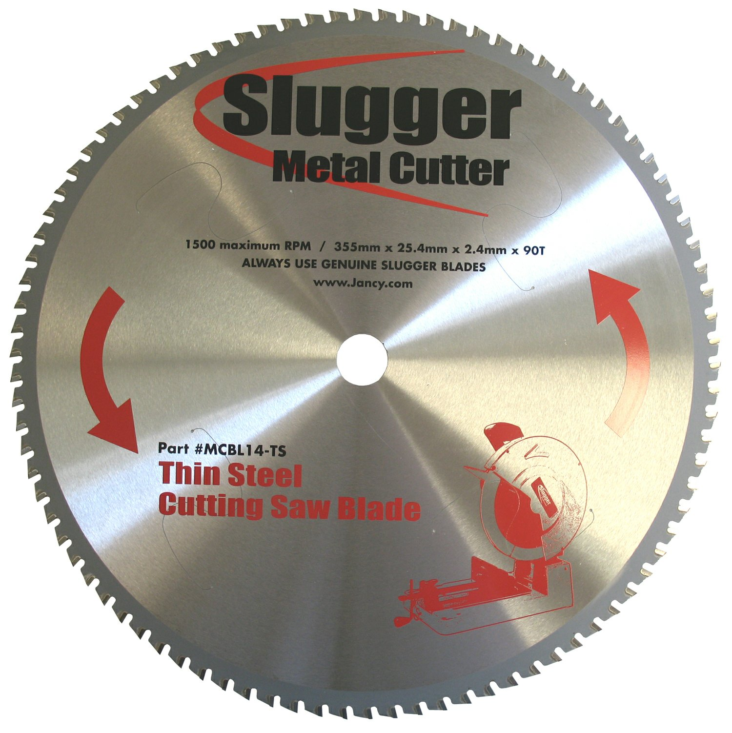 Jancy Slugger MCBL14-TS Thin Steel Saw Blade, 14'' Diameter, 90 Teeth