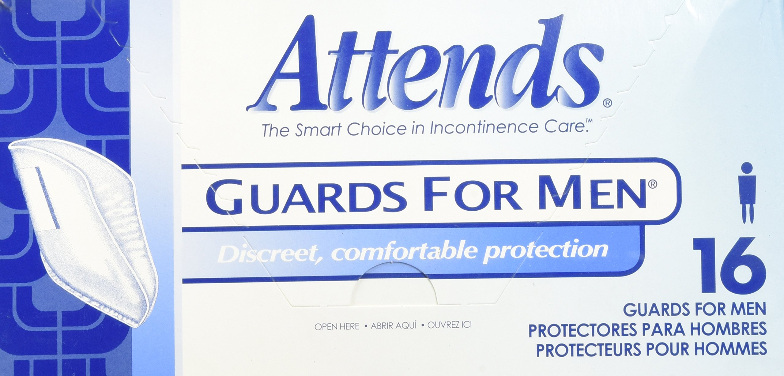 Attends Guards for Men, Box/16