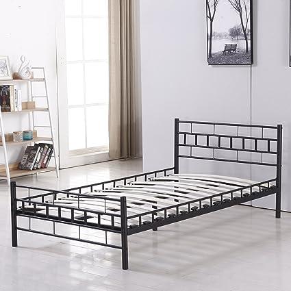 Bestmart INC Foldable Easy Set-up Steel Bed Frame/Platform Bed Bedroom Furniture Black