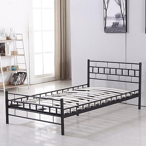 Bestmart INC Foldable Easy Set-up Steel Bed Frame/Platform Bed Bedroom  Furniture Black (Twin)