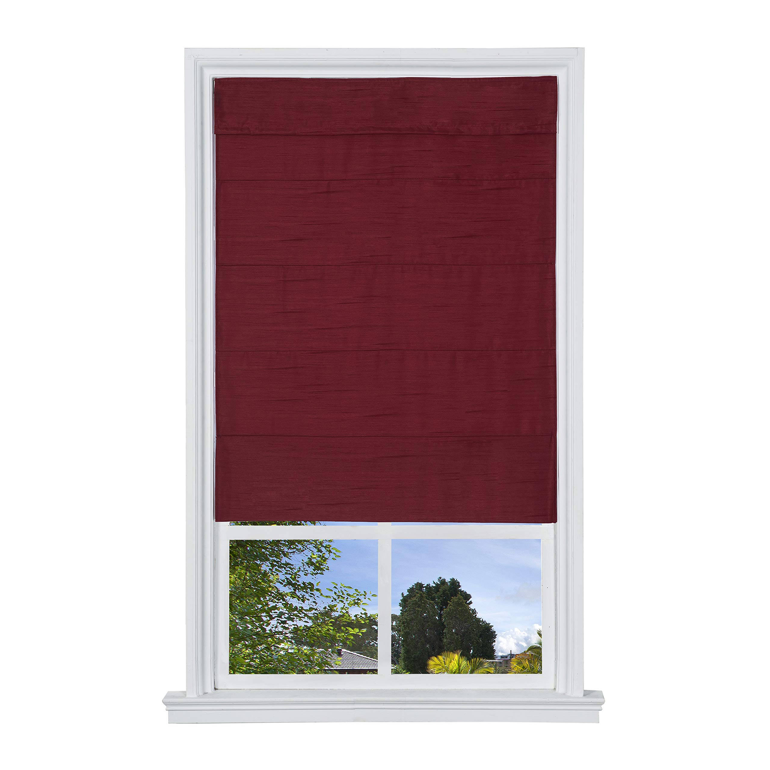 Cordless Duchess Roman Shade (Merlot 23 in. W x 64 in. L) by The Shade & Shutter Factory