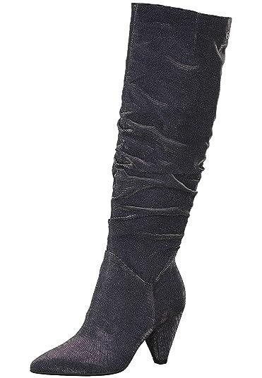 6b8a1d582d4713 Tamaris 1-25512-21 864 Women s Navy Glam Blue Boots Longsleeve Boots ...