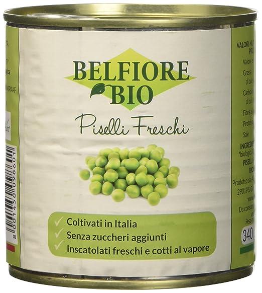 3 opinioni per Belfiore Bio Piselli Biologici Inscatolati Freschi- 340 gr, Italiani-