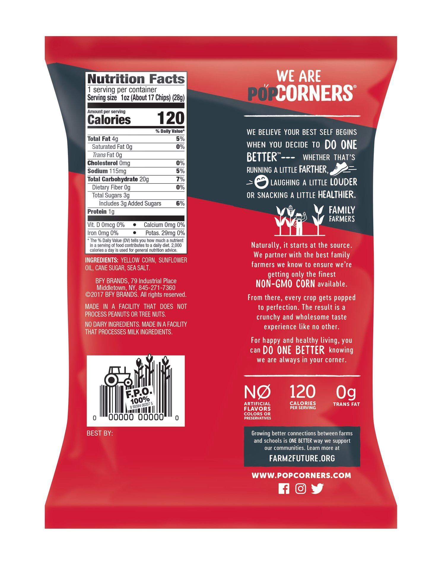 PopCorners Kettle Corn Snack Pack | Gluten Free, Vegan Snack | (40 Pack, 1 oz Snack Bags) by Popcorners (Image #2)