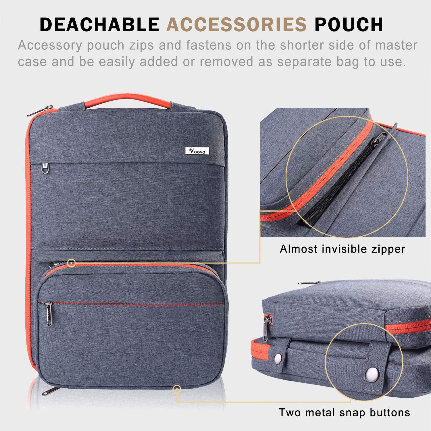 Waterproof Notebook Computer Bag-Light and Comfortable Tablet Briefcase-Band Zipper Portable Handbag Cafe Racer Anime Girl 13-Inch to 15-Inch Laptop Sleeve Case