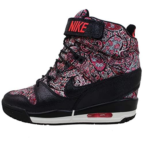 check out f3685 29036 Nike Air Revolution Sky Hi Liberty QS Womens Wedge Basketball Shoes  632181-006 Black 6 M US: Amazon.ca: Shoes & Handbags