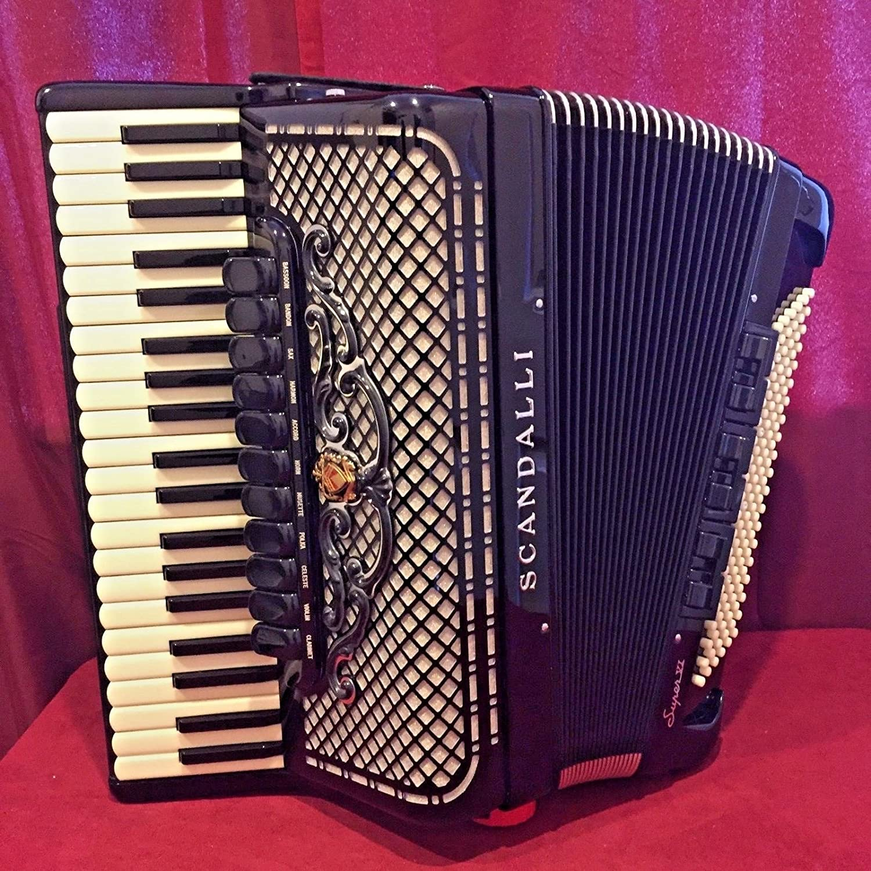 Nueva scandalli Piano acordeón Super VI Musette negro 41 120 ...