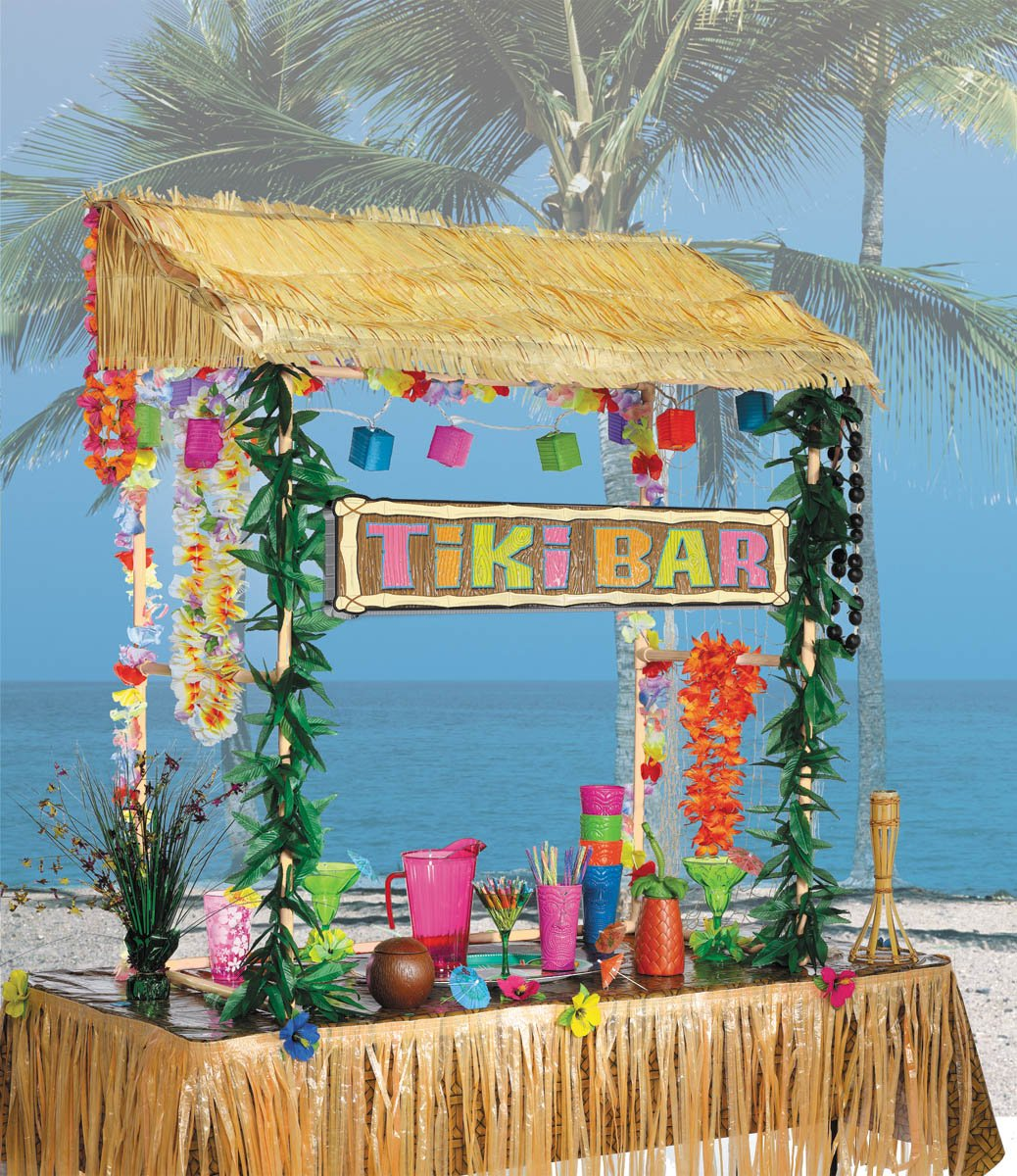 Amscan Table Top Tiki Bar Hut, 52 in High53 in wide23 in deep by Amscan (Image #1)