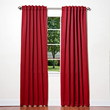 Red Curtains amazon red curtains : Amazon.com: Best Home Fashion Thermal Insulated Blackout Curtains ...