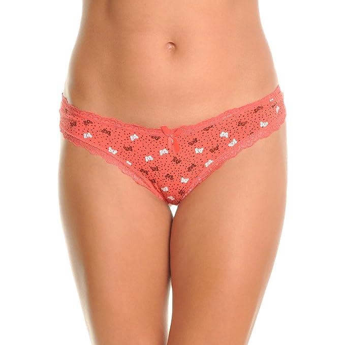 f27ddf86c7 Angelina Cotton Brazilian Cut Bikini Panties with Butterfly Print (6-Pack)