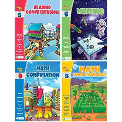 Edgeucational Publishing Smart ALEC (5th Grade) Four Pack Learning Series, Includes: Writing, Math Computation, Reading Comprehension, Math Word Problems: Toys & Games