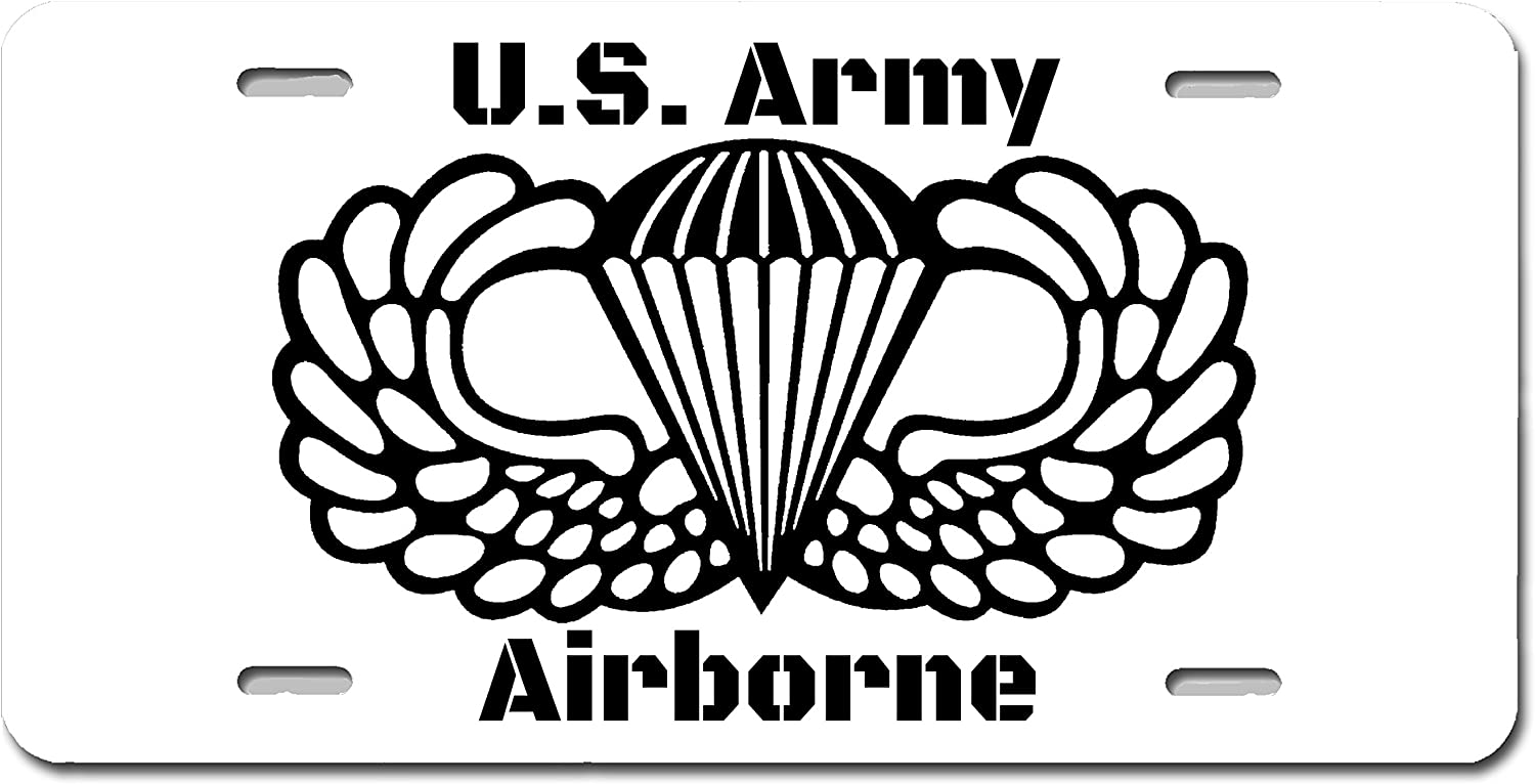 Army Airborne Wings Novelty License Plate Car Truck Trailer Tag Vanity Plate JDM
