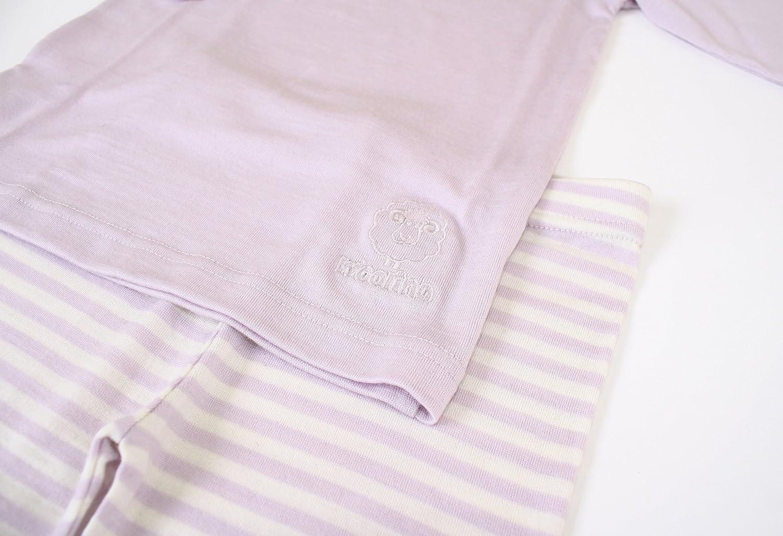 Merino Wool 1-5 Years Woolino Long Sleeve Pajama Set