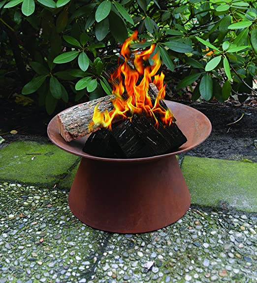Al aire libre Fire Pit – óxido – Barbacoa portátil jardín brasero: Amazon.es: Jardín