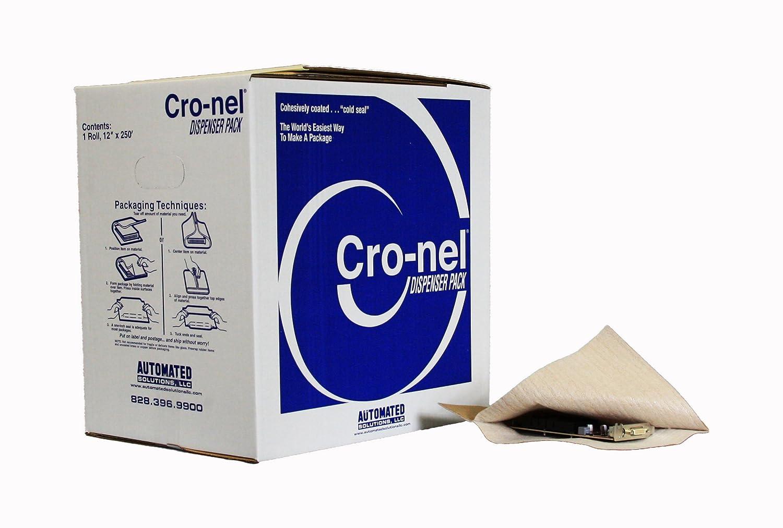 cro-nel cmds12p0lf250dp Medium Duty dispensador paquete embalaje de protección, 60LB Kraft papel laminado para 1/16