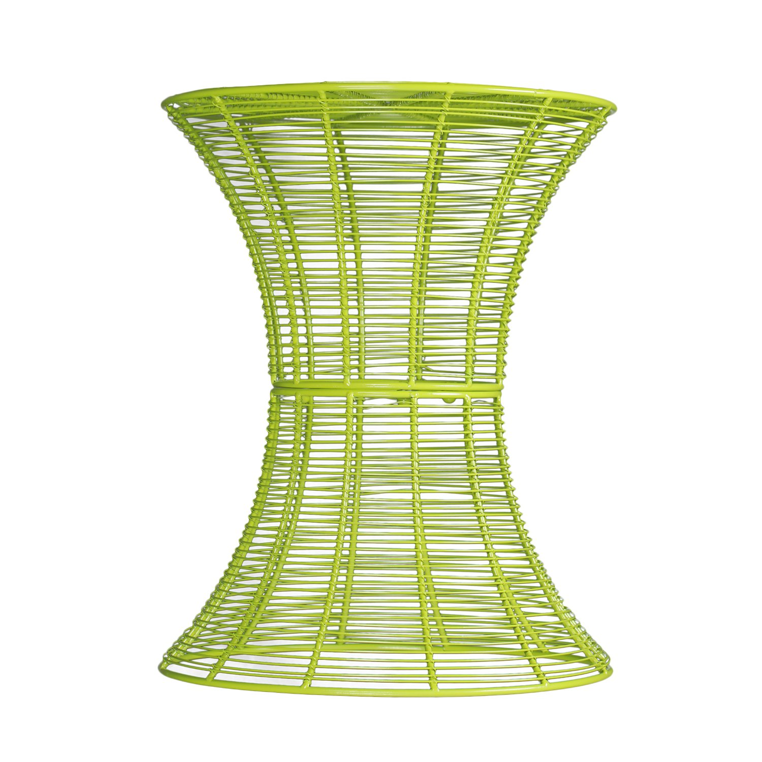 Adeco Accent Round Starburst End/Side/Tea Table, Iron Wire Weave Netting, For Outdoor Garden Patio