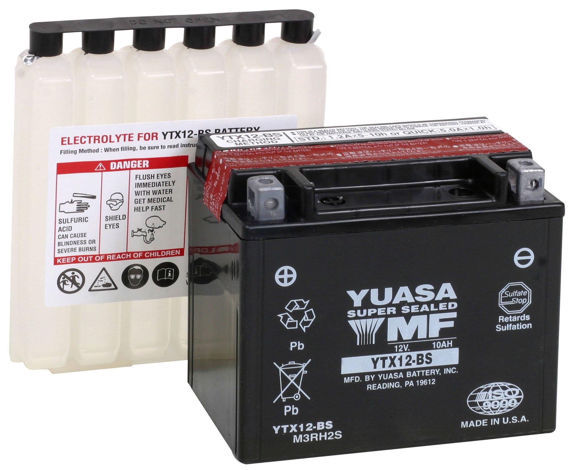 Yuasa YUAM3RH2S YTX12-BS Battery, Multi-Colored