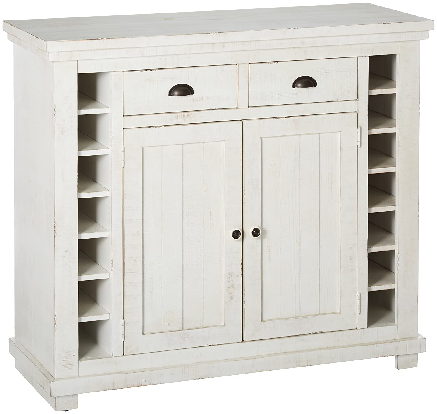 Progressive Furniture Willow Server, Distressed White