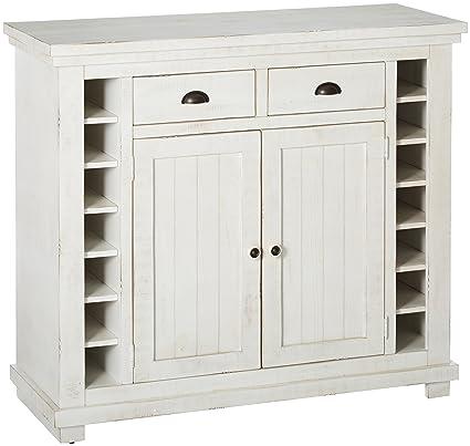 Progressive Furniture Willow Distressed White Server, Distressed White