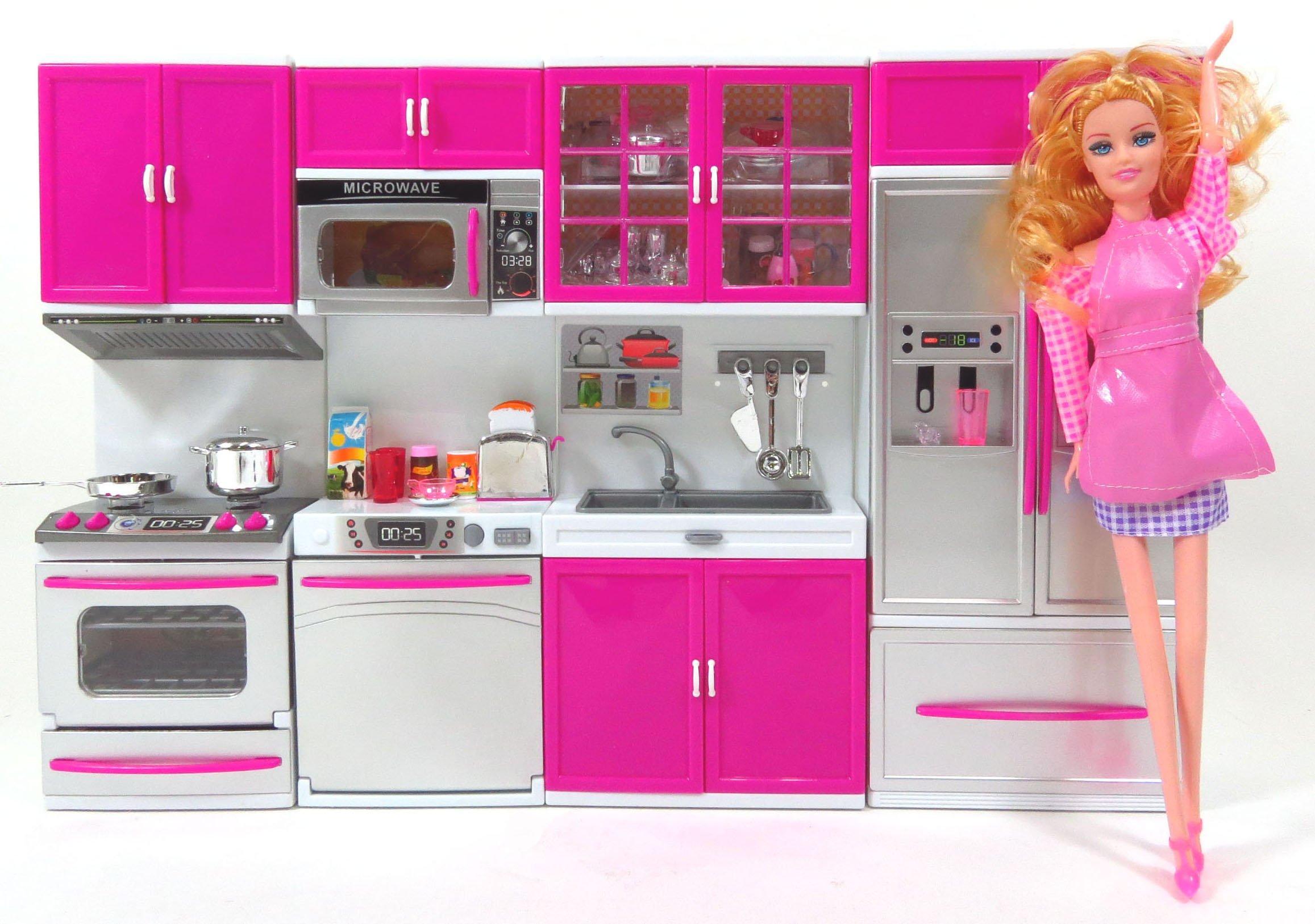 Kitchen Play Set Toy For Children,Barbie Doll Play Kitchen Toy ...