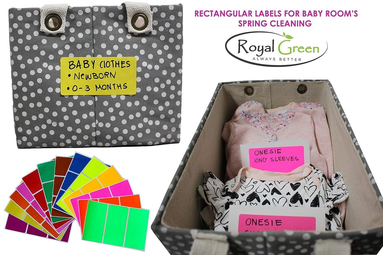colore verde reale Etichette adesive con nome 102 mm x 51 mm 150 Neon-pink per segnalare e identificare scatole