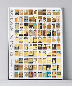 100 Filme Scratch Off Wie Im Kino Eimer Liste Film Poster