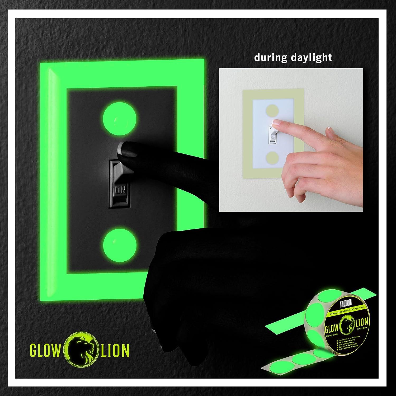 25,4/cm Glow-in-the-Dark Bande brillent dans le noir ruban Dots 150/Pois