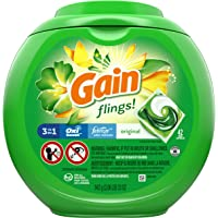 Gain flings! Laundry Detergent Liquid Pacs, Original, 42 Count - Packaging May Vary