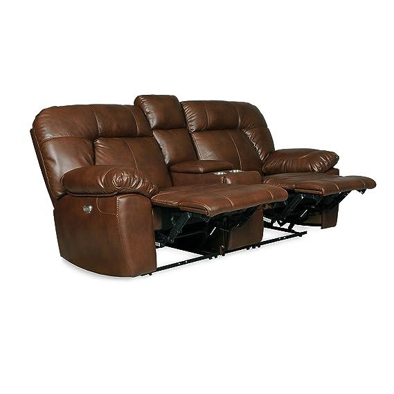 Amazon.com: Decatur Series Dual reclinable sofá con consola ...