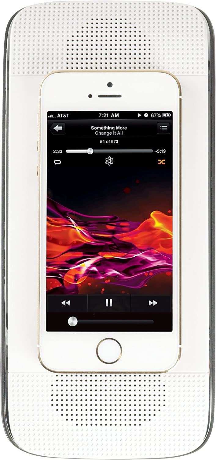 Acoustic Research SP40 Soundflow Soundboard, Wirelessly Play Music From Smartphone with External Speaker (White)