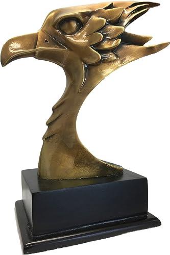 Brass Eagle Bust Sculpture