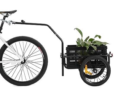 Carrito-remolque de transporte para bicicleta 2 en 1 de Didiosports (2018),