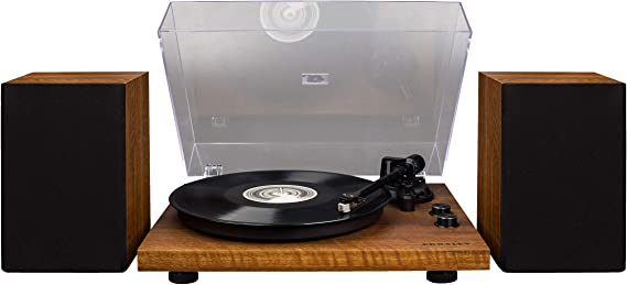 Crosley C62 Belt-Drive Bluetooth Turntable System with Included Speakers