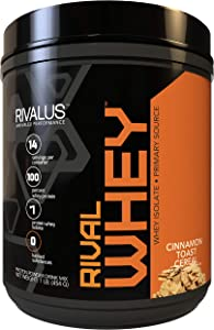 Rivalus Rivalwhey – Cinnamon Toast Cereal 1lb - 100% Whey Protein, Whey Protein Isolate Primary Source, Clean Nutritional Profile, BCAAs, No Banned Substances, Made in USA