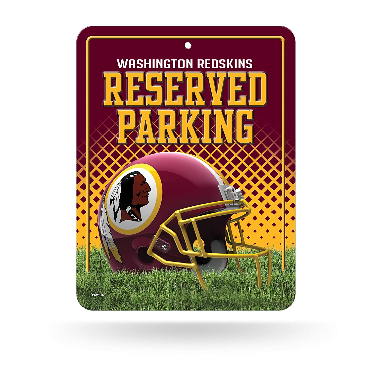 20,3 x 27,9 cm Redskins Metall Rico Parkschild NFL Washington