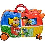 "Nickelodeon Paw Patrol Carry On Luggage 20"" Kids Ride-On Suitcase Optional Bonus Activity Pack"
