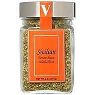 Sicilian Seasoning Blend - 2.5 oz Jar - Victoria Gourmet - Use on pizza, tomato sauce, salads, pasta fagioli - All Natural Ingredients