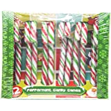 Red, Green and White Candy Canes 12 Pack