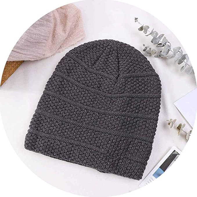 9b23978ef Amazon.com: Men Beanies Winter Hats 2018 Fashion Knitted Skullies ...