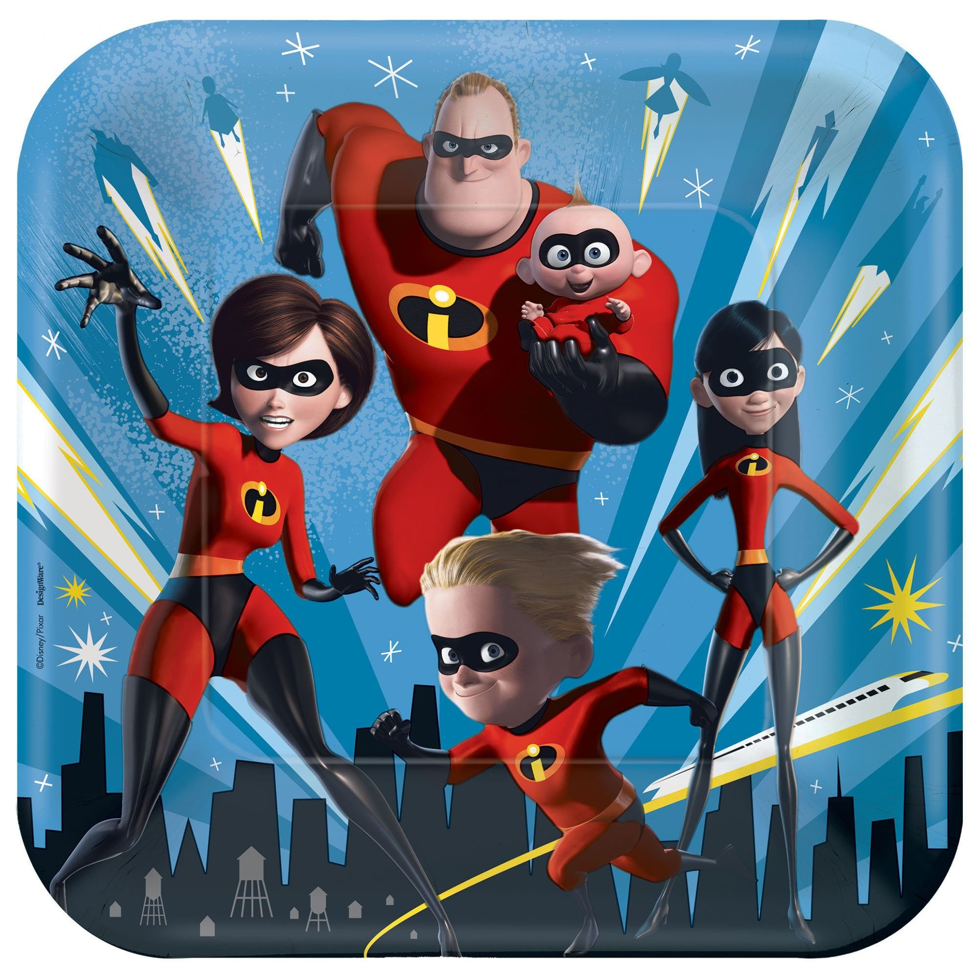 Disney's The Incredibles 2 Birthday Party Supplies 48 Pack Lunch Plates